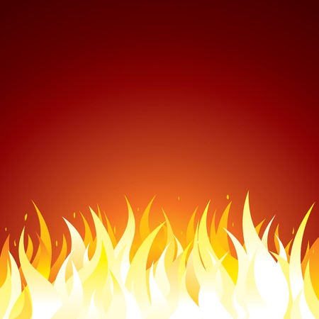 barbecue fire: Fire Background. Vector Template for Text or Design