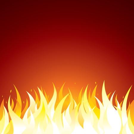 Fondo del fuego. Plantilla vector para el texto o el diseño Vectores