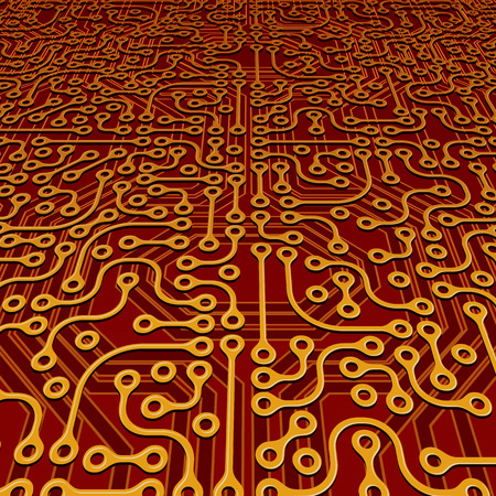 Perspective Circuit Board Vector Vector
