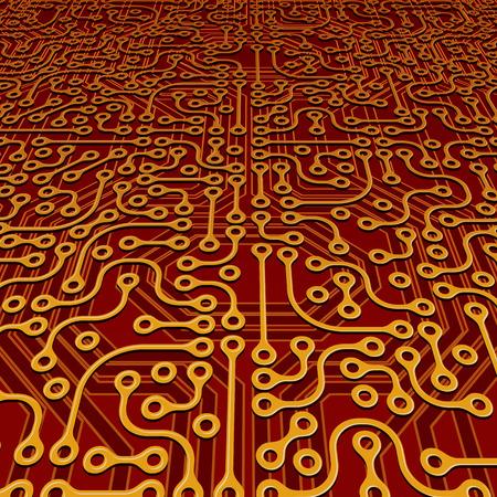 Perspective Circuit Board Vector
