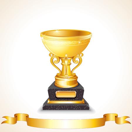 Golden Cup Vector Vector