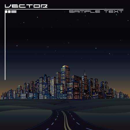 sky scraper: City on the Horizon. Urban Road to Megalopolis