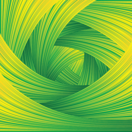 green and yellow: Fresh Green Swirl Background. Vector Concept Image Illustration
