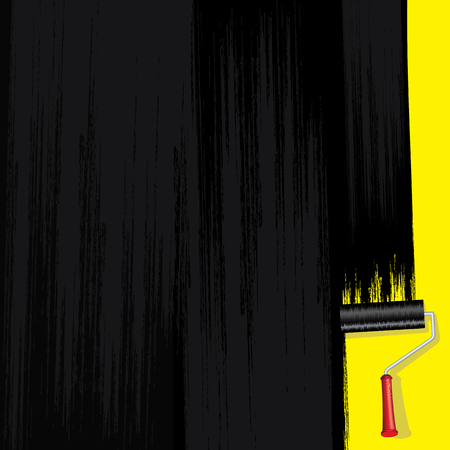 wall paint: Black Paint on Wall Vector Design Image