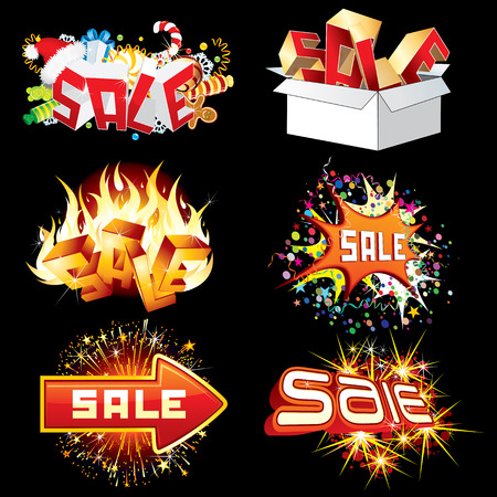 sale icons: Bright Sale Tags and Icons. Ready for Your Design.
