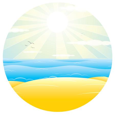 sand beach: Sunny Sand Beach. Vector Illustration for Design