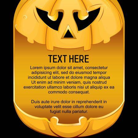 calabazas de halloween: Plantilla para el fondo de Halloween. Listo para el texto y el diseño. Vectores