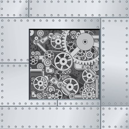 component: Abstract Mechanism Backdrop. Ready for Your Text and Design.