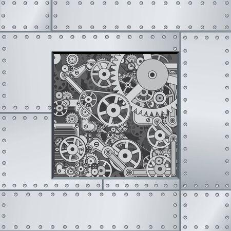 componentes: Telón de fondo Mecanismo abstracto. Listo para el texto y el diseño.