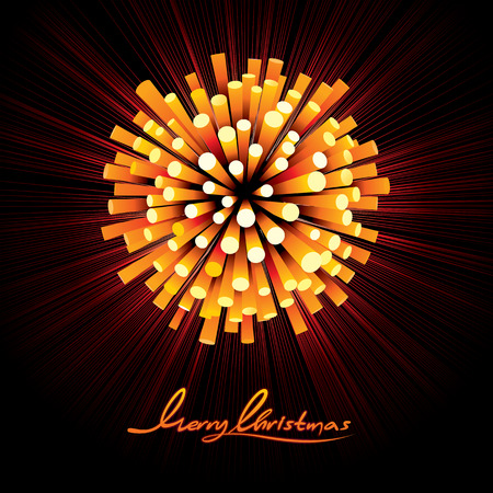 christmas party: Christmas Fireworks Vector. Ready for Your Text and Design.