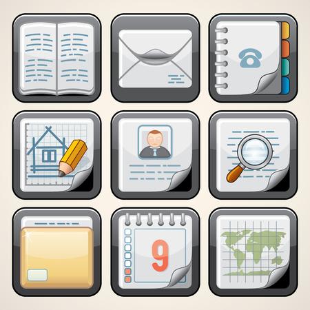 driver license: Design Paper Computer Icon. Creative Vector Set