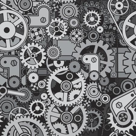 engranajes: Engranajes y ruedas dentadas de fondo. Modelo incons�til del vector