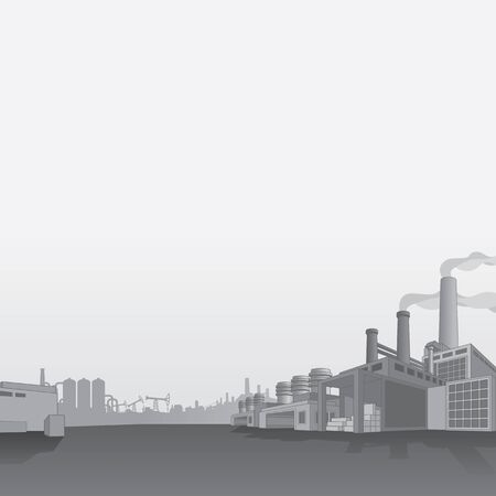 oil and gas industry: Oil and Gas Refinery. Petrochemical Factory Oil Industry Vector Background