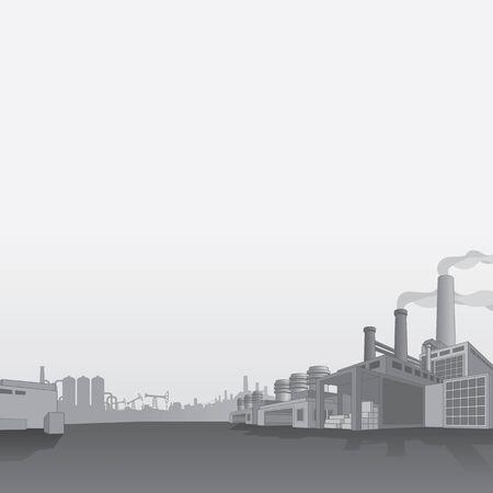 Pétrole et gaz de la raffinerie. Industrie du pétrole Petrochemical usine vecteur de fond
