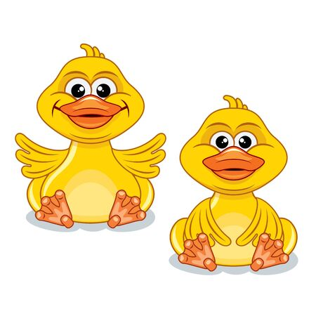 squeak: Funny Cartoon Yellow Duck.