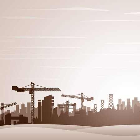 city background: City Construction Background.