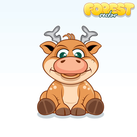 axis deer: Cute Cartoon Axis Deer