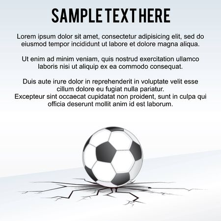 uefa: Soccer Ball Background. Ready for Your Text and Design. Stock Photo