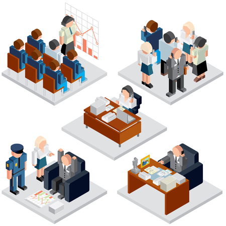 business relationship: Office Life. Business Relationship. Isometric Vector Images for Your Text and Design. Illustration