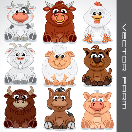 animals collection: Farm Animals Clip Art for Kids.