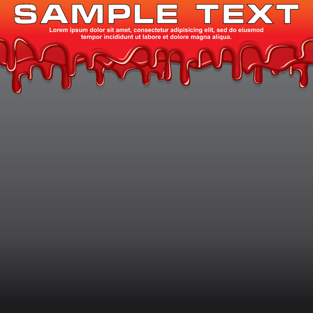 dribble: Red Liquid, Dribble Paint Banner. Vector Ready for Your Text and Design. Illustration