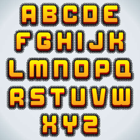 headlines: Retro Comics Vector Font. Typography for Labels, Headlines, Posters etc. Ready for Your Text and Design.