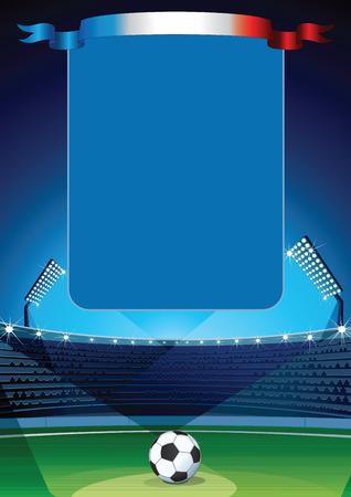 soccer field: Soccer Field with Empty Scoreboard.