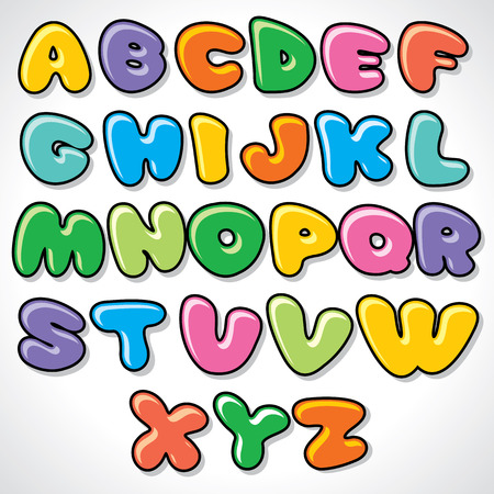 multicolored: Comics Alphabet. Ready for Your Text and Design.