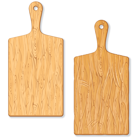 Classic Wooden Cutting or Chopping Board. Image of Old Grunge and New Cutting Board. Cutting Board Isolated. Butcher Block Ilustracja