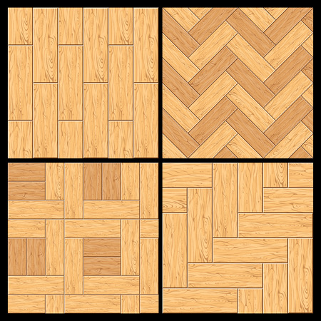 Seamless pattern. Wooden Parquet, Hardwood Flooring. Set Ready for Your Text and Design.