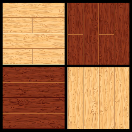 wood surface: Old Wood Seamless Patterns. Hardwood Floor Surface. Set of Textures. Parquet Flooring Ready for Your Text and Design.