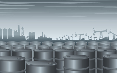 storage facility: Industrial Theme Background. Vector Design Illustration Illustration