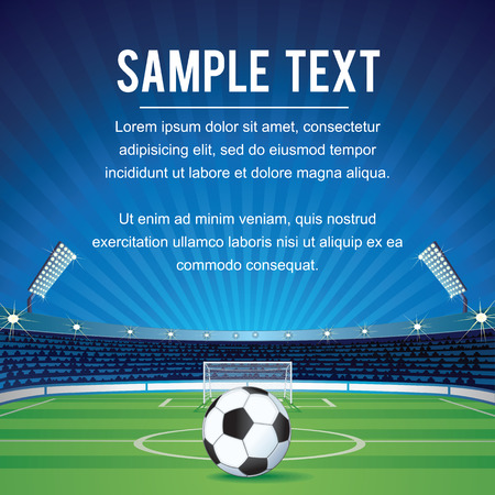 soccer field: Abstract Sport Soccer Background with Copy Space