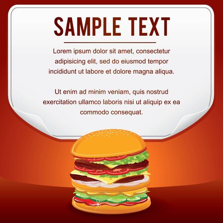 single word: Fast Food Product Poster for Shop Design Sale Card