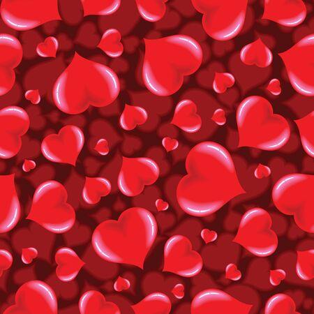 miraculous: Seamless Funky Heart Pattern