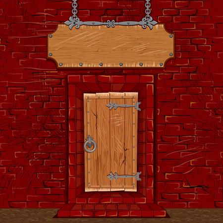 portadas libros: Taberna o tienda puerta de la puerta de la fachada con el letrero