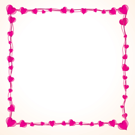 Valentine Love Frame mit vielen rosa Herzen