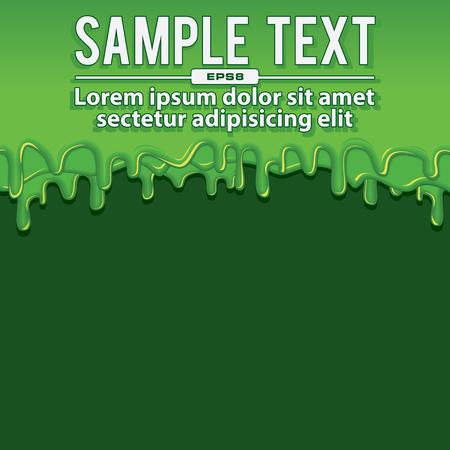 blubber: Green Liquid Banners. Vector Illustration