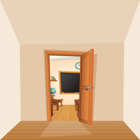 school classroom: Back to School Backdrop Classroom