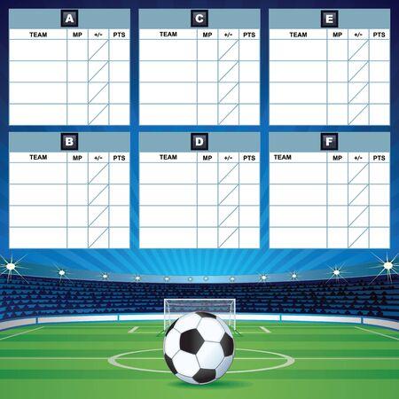 soccer: Soccer Group Table Template