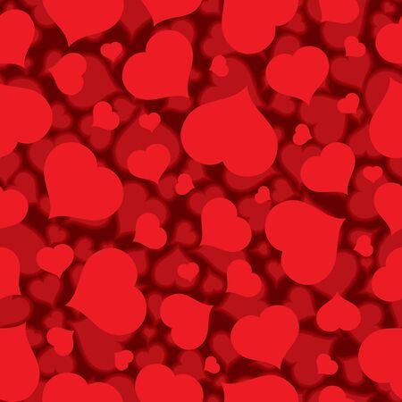 romance: Seamless Flat Blurred Heart Pattern Vector