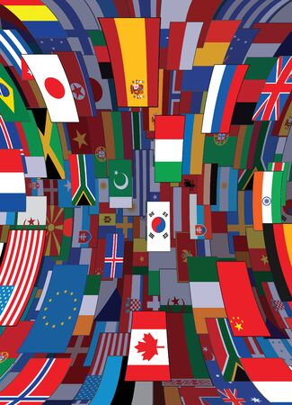 flags of the world: World Flags Backdrop. Political Vector Background