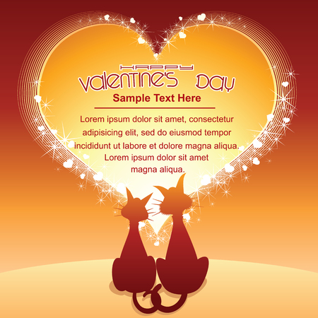 intrigue: Valentines Day Cartoon Background Illustration