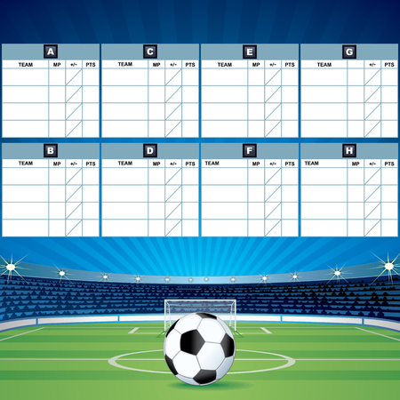 fields  grass: Soccer Background with Score Tables. Vector