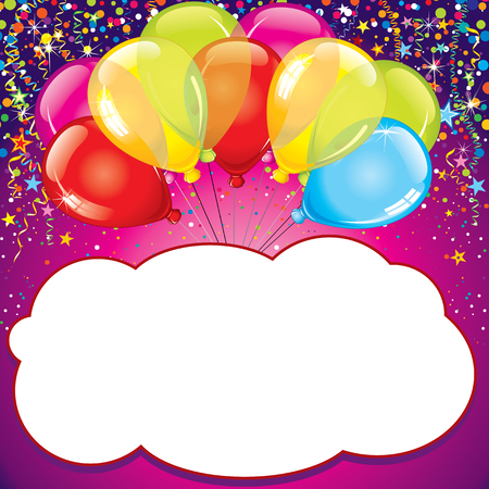 b day parties: Birthday Card. Vector
