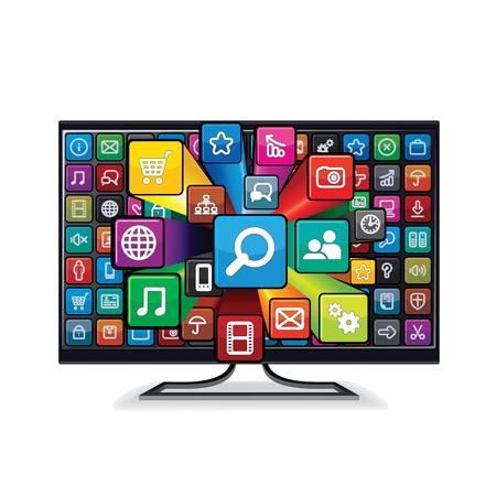A Smart TV Application illustration.