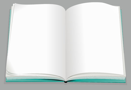 layout: Blank book template vector illustration