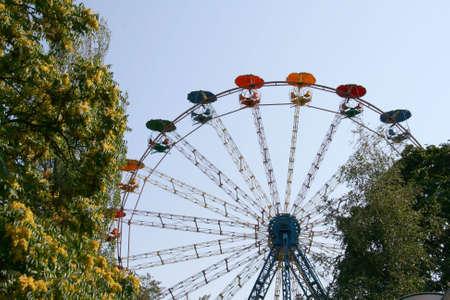 ferriswheel: Ferris wheel, carosello per ricreazione e divertimento  Archivio Fotografico