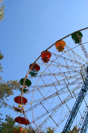 ferriswheel: Ferris wheel, carousel for recreation and entertainment