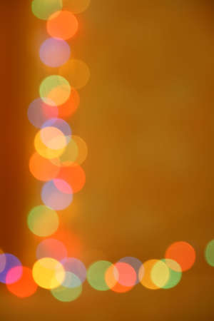 abstract defocuset garland lights with copy space Stock Photo - 6197931